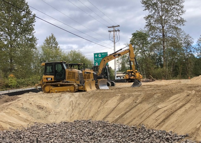 Commercial Site Development - Road Building, Sewer, Water and Storm Drainage